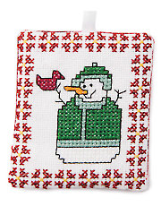 Mrs. Snowman Cross Stitch Pattern
