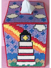 Ranindrop & Rainbow Lighthouse Tissue Topper