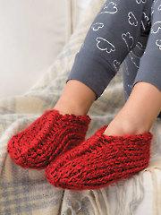 Tunisian Origami Slippers Crochet Pattern