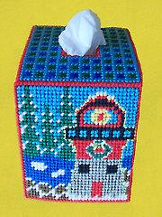 Winter Lighthouse Tissue Topper