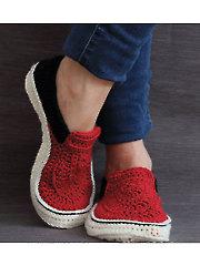 Vans Style Slippers Crochet Pattern
