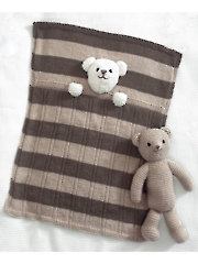 4005: Teddy Bear Blankets & Toy Knit Pattern