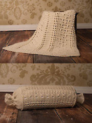 Braided Cable Blanket & Throw Pillow Crochet Pattern