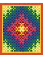 Trip Around the Rainbow Quilt Pattern