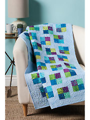 EXCLUSIVELY ANNIE'S QUILT DESIGNS: Uneven Four-Patch Quilt Pattern