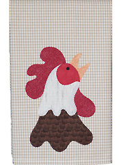 Rooster Tea Towel Pattern
