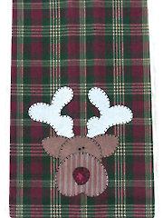 Reindeer Tea Towel Pattern