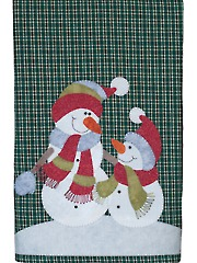 Snowman & Son Tea Towel Pattern