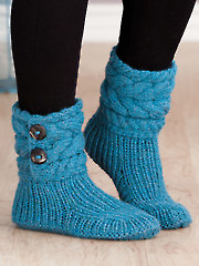 Cable Cuffed Boots Knit Pattern