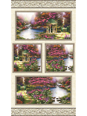 "Thomas Kinkade The Garden Prayer Digital Panel 24"" x 44"""