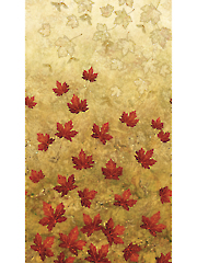 Red Maplewood Leaves 1/2 Yard Cut