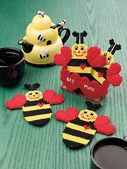 Honeybee Coasters
