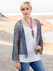 ANNIE'S SIGNATURE DESIGNS: Sand Dollar Cardi & Necklace Crochet Pattern