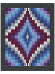 Bargello Diamonds Quilt Pattern