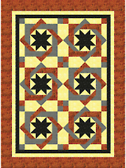 Twisted Tiles Quilt Pattern