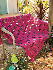 Lacy Raspberry Floral Throw