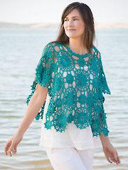 ANNIE'S SIGNATURE DESIGNS: Pacifica Poncho  Crochet Pattern