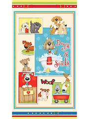 "Dogs & Suds Panel 24"" x 44"""
