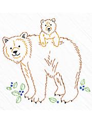 Bear Tea Towel Kit