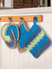 ANNIE'S SIGNATURE DESIGNS: Pescado Pot Holders Crochet Pattern