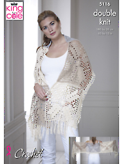 5116: Top and Shawl Crochet Pattern