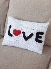 Love Pillow Crochet Pattern