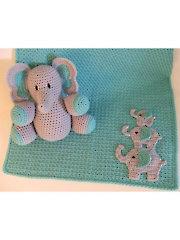 Elephant Baby Set Crochet Pattern