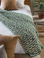 Woven Stripes Throw Crochet Pattern