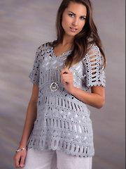 Diamond Line Tunic Crochet Pattern