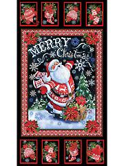 """Merry Christmas Santa Panel 24"""" x 44"""""""