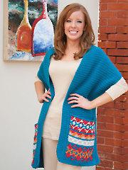 Fair Isle Crochet Shawl