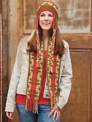 Fair Isle Crochet Hat & Scarf