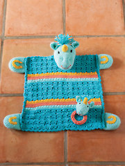 Unicorn Lovey With Matching Rattle