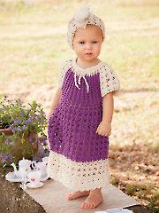 Cotton & Lace Peasant Dress & Headband