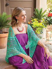 Jade Isles Shawl Crochet Pattern