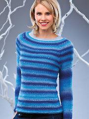 Sweater Making: Blue Jewels Pullover Crochet Pattern