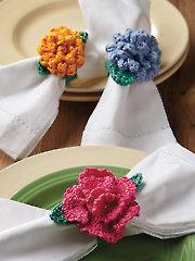 Floral Napkin Rings Crochet Pattern