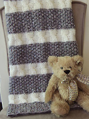 Cabled and Gray Blanket