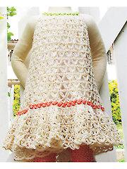 Chain Lace Flower Dress Crochet Pattern