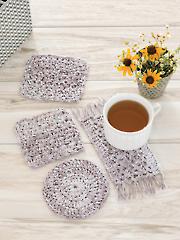 Farm House Coasters Crochet Pattern