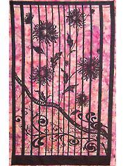 Purple Shattered Garden Batik Panel