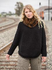 ANNIE'S SIGNATURE DESIGNS: Take Me Places Sweater & Faux-Fur Cowl Crochet Pattern
