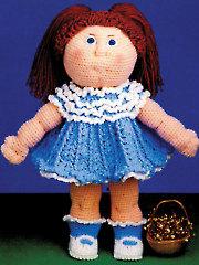 Debbie Ann Doll Pattern & Party Dress Crochet Pattern