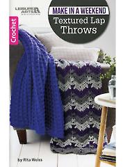 Textured Lap Throws Crochet Pattern Book