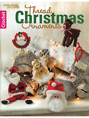 Thread Christmas Ornaments Crochet Pattern Book