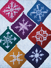 Textured Snowflake Potholders Crochet Pattern