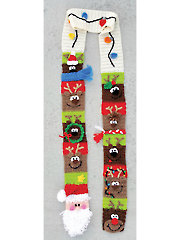 Santa's Reindeer Scarf Crochet Pattern