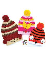 Slouchy Animal Hats Crochet Pattern