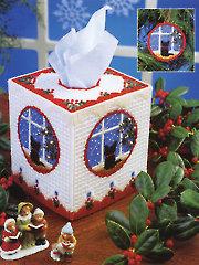 Cat Christmas Tissue Box Pattern