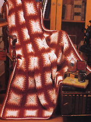Etched Copper Afghan Crochet Pattern